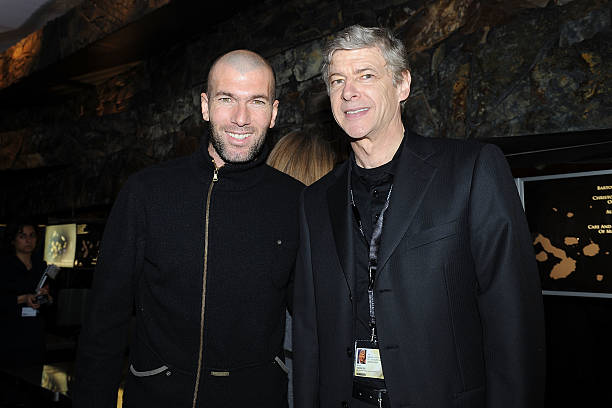 Zinedine Zidane and Arsene Wenger