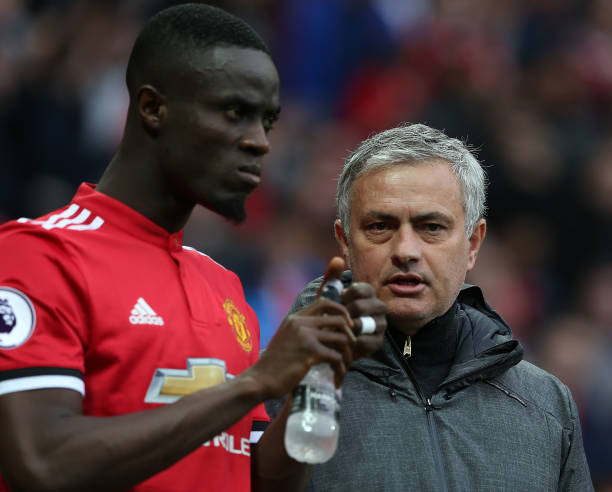 JOSE MOURINHO AND ERIC BAILLY