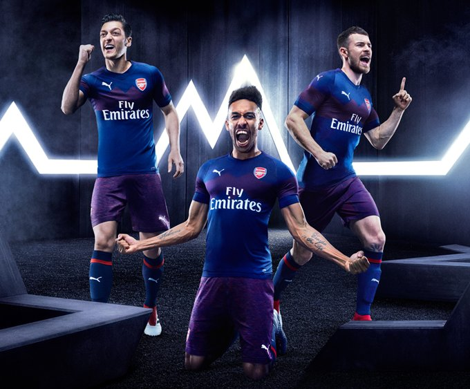 ea88b85717b OFFICIAL  Arsenal Unveils It s 2018 19 Away Kit - Arsenal True Fans