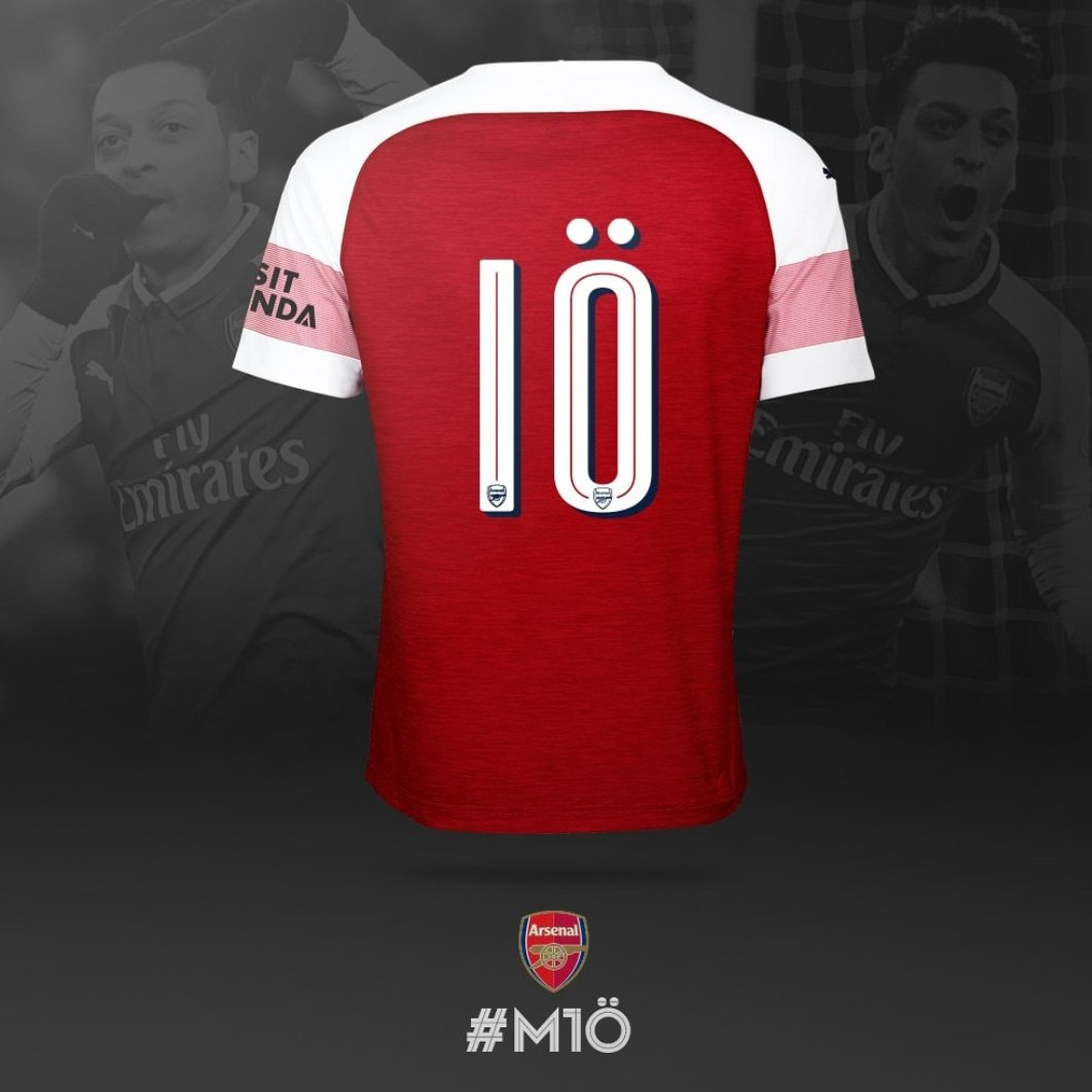 huge discount e427f 5849f OFFICIAL: Mesut Ozil Officially Gets Given The Shirt No.10 ...