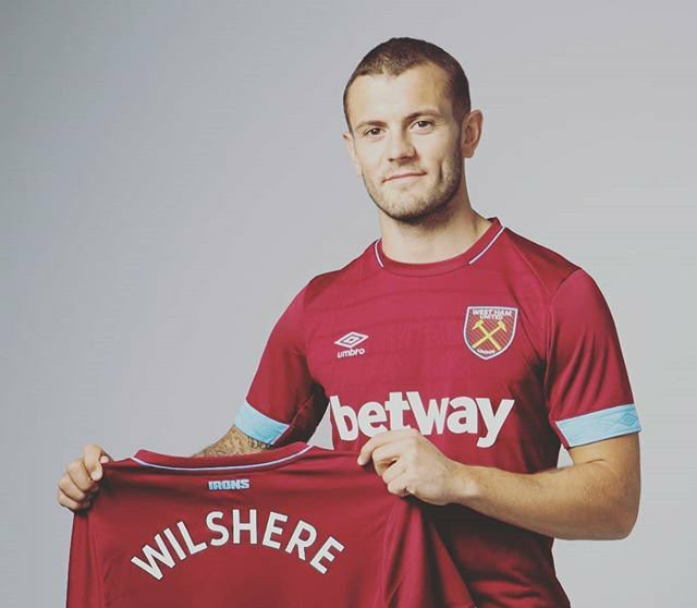 Jack Wilshere In West Ham United Shirt