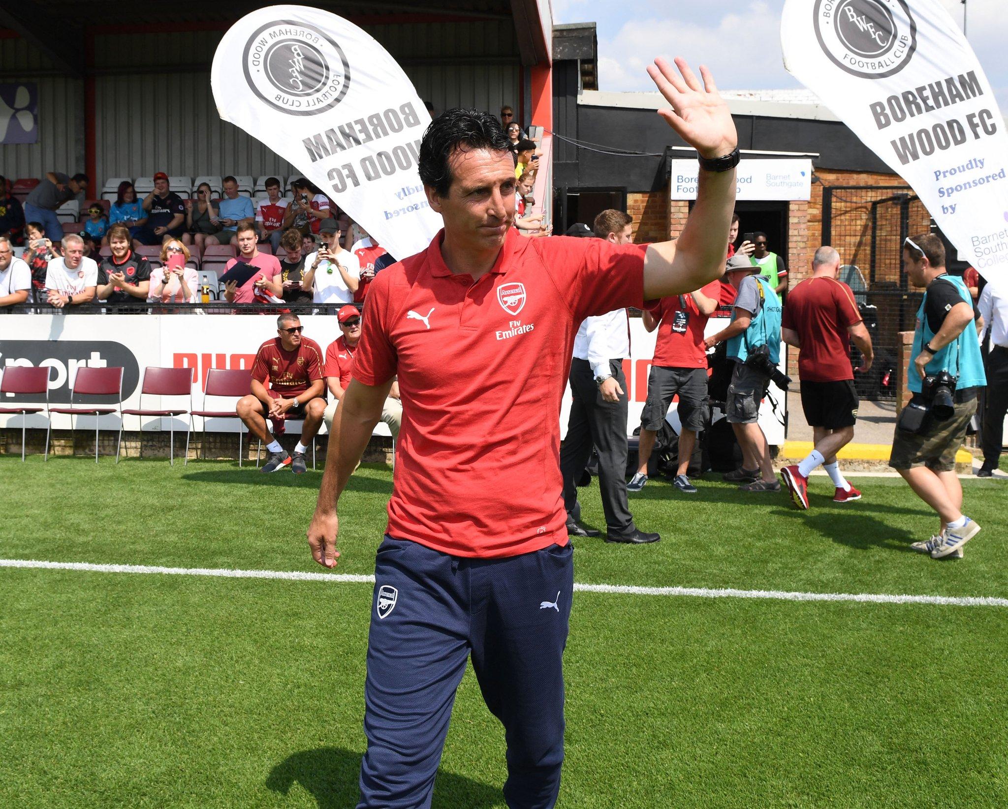 Unai Emery At Boreham Wood Match