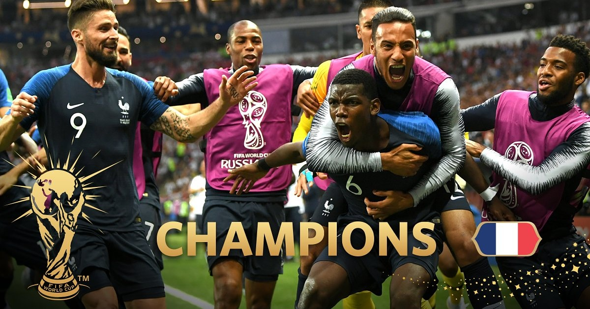France Wins The 2018 FIFA WORLD CUP