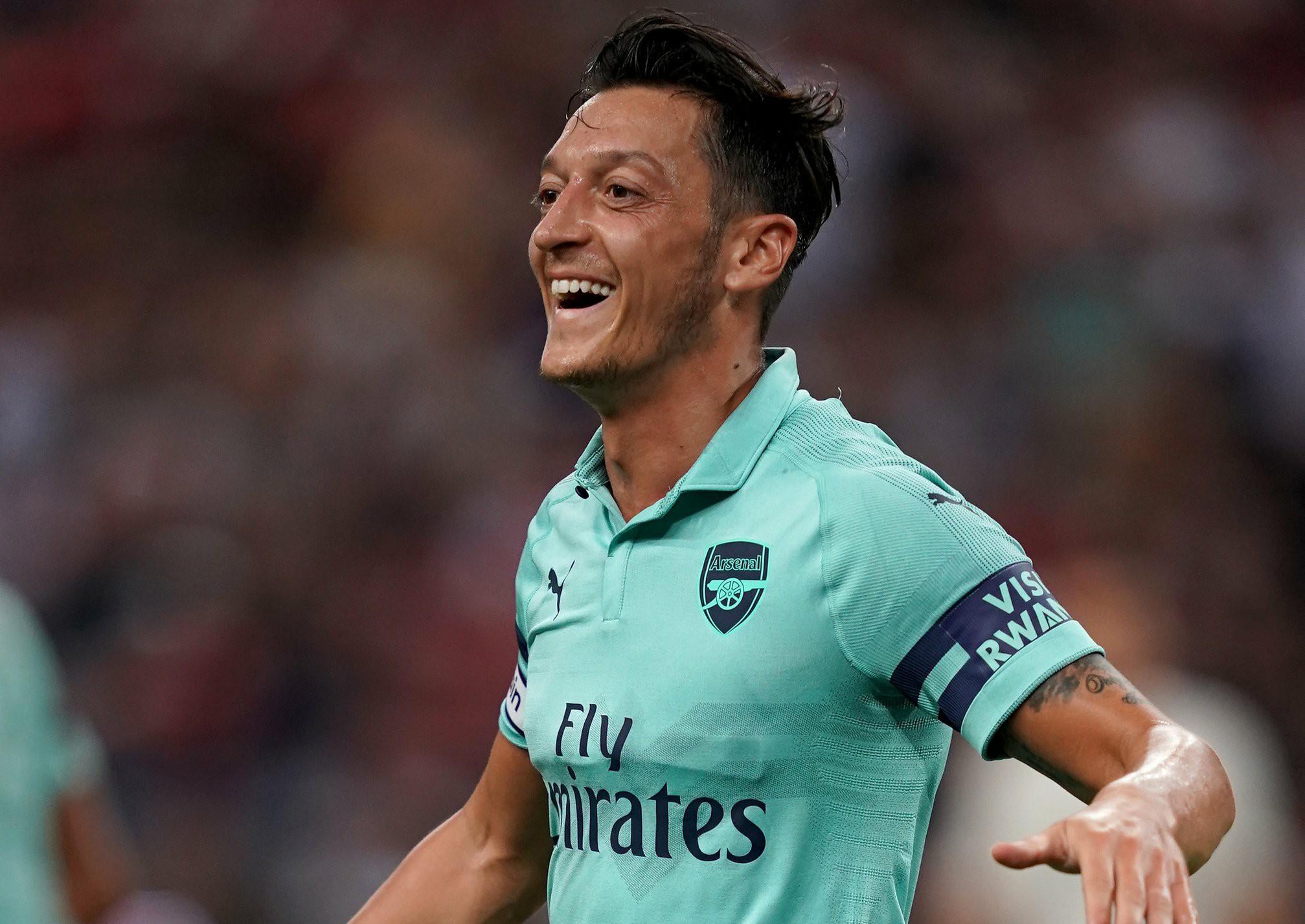 Arsenal midfielder Mesut Ozil in Singapore