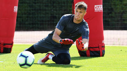 Arsenal goalkeeper Matt Macey