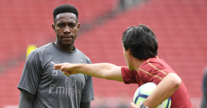 Arsenal manager Unai Emery and Danny Welbeck