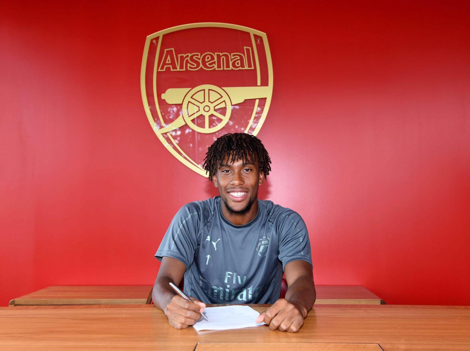 Arsenal winger Alex Iwobi