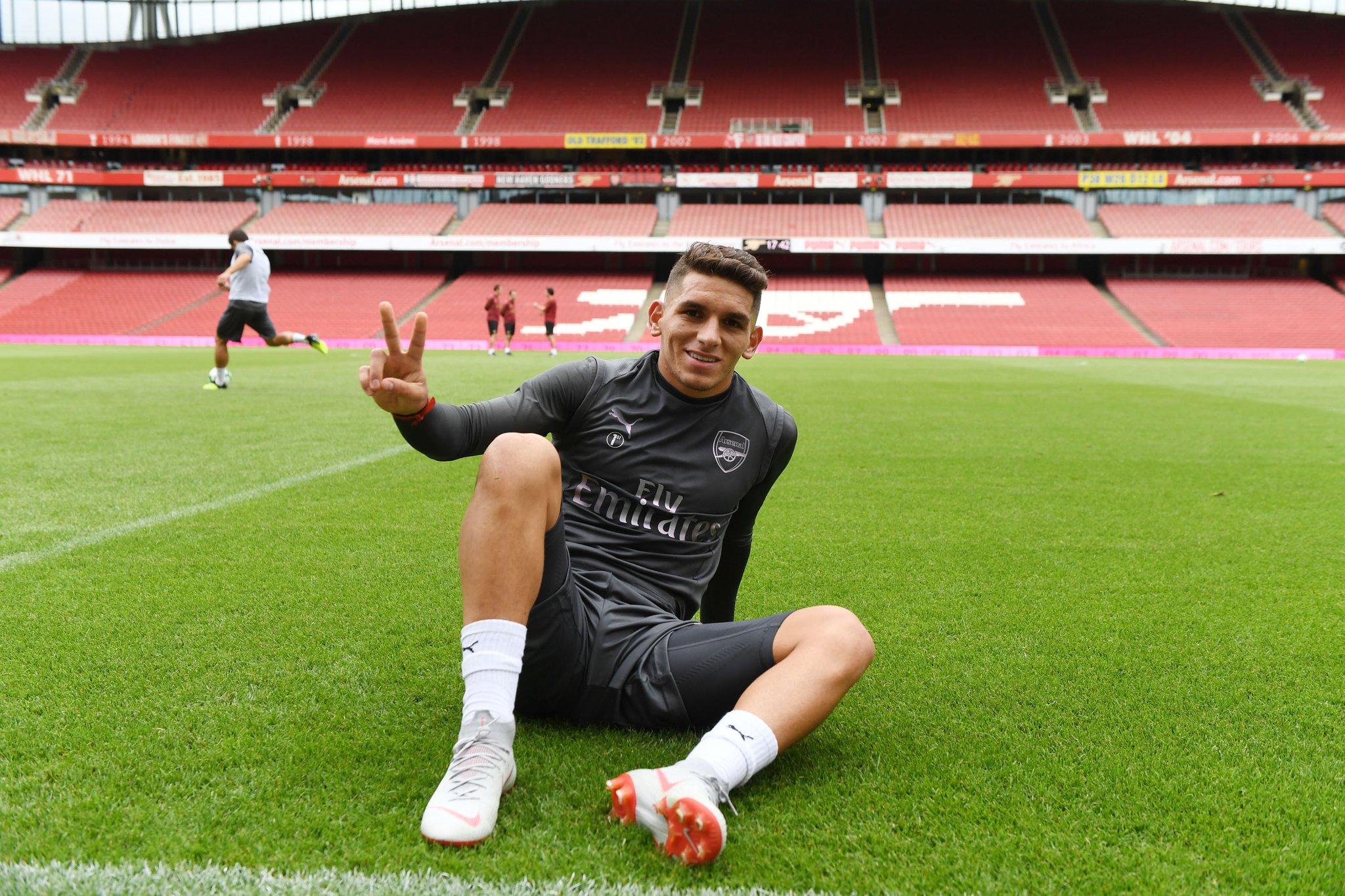 Lucas Torreira at the Emirates Stadium