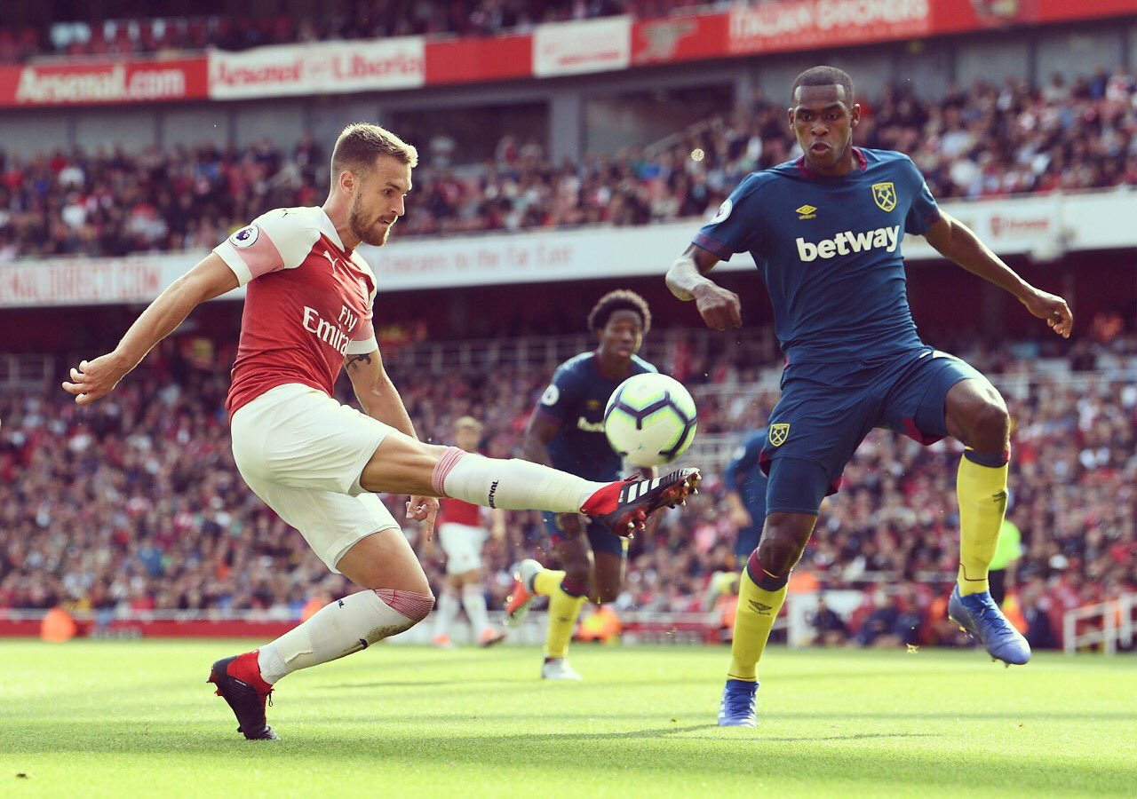 Aaron Ramsey Vs West Ham United