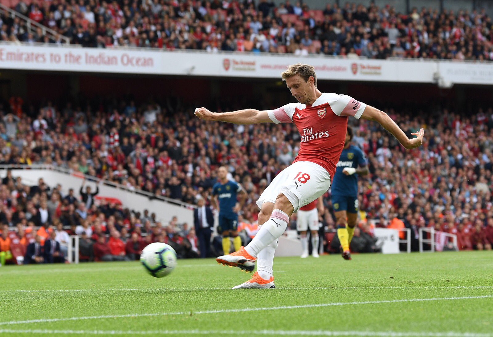Nacho Monreal VS West Ham United