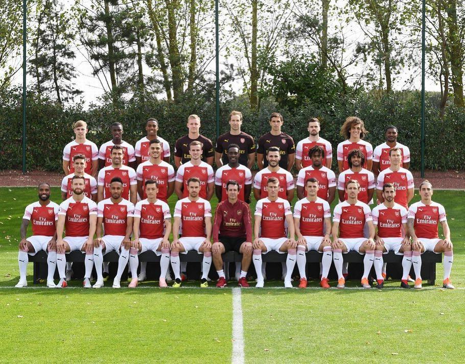 Arsenal 2018/19 Squad Photo
