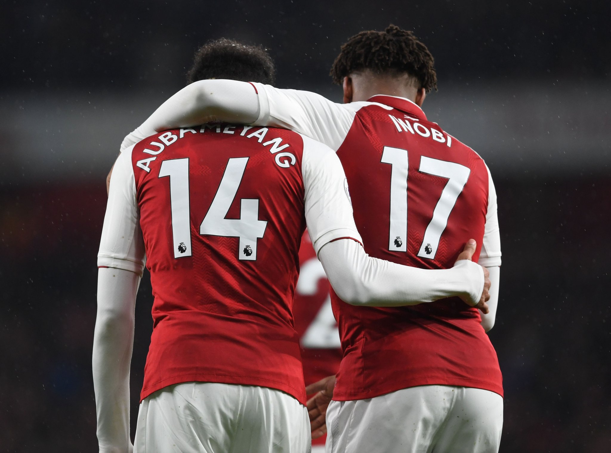 Aubameyang and Alex Iwobi