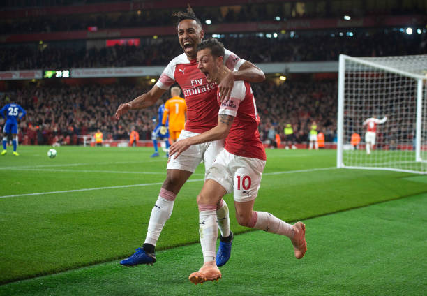 Aubameyang and Mesut Ozil