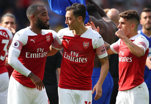 Lacazette, Ozil and Torreira